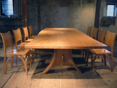 Gallery Table and Wishbone Chairs
