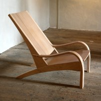 Fireside Chair, steam bent with washed finish.