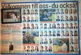 Expressens nyanställda år 2012. 57-0 till hemmalaget.