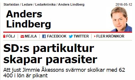 Anders Lindberg med en fru som hade 85 procentig frånvaro pratar om partikultur.