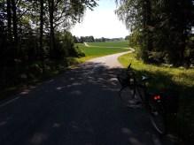 Petterssons cykel under en tur på en fullt godkänd landsväg i Södermanland