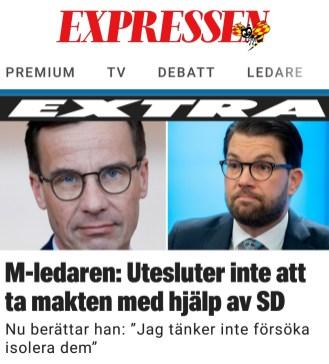 Expressen Kristersson och SD