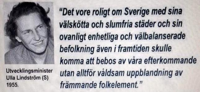 Ulla Lindström (S) i ett annat och klokarrre sammanhang.