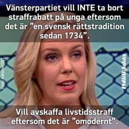 Politikfakta. Linda Snecker (V).