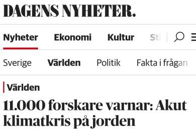 Dagens Nyheter Klimatkris
