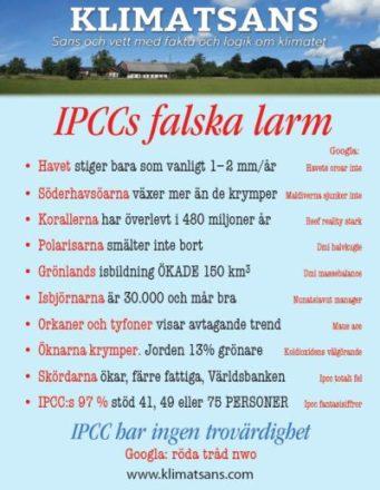 Klimatångest IPCC falska larm