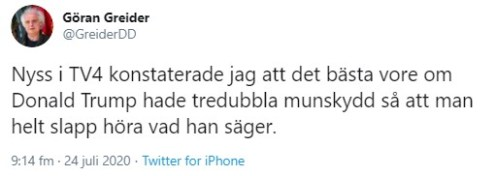 Göran Greider om Trump