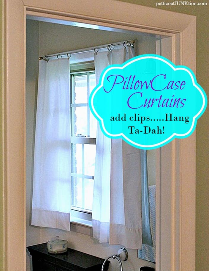 White Pillowcase Curtains Straight From The Package Petticoat Junktion