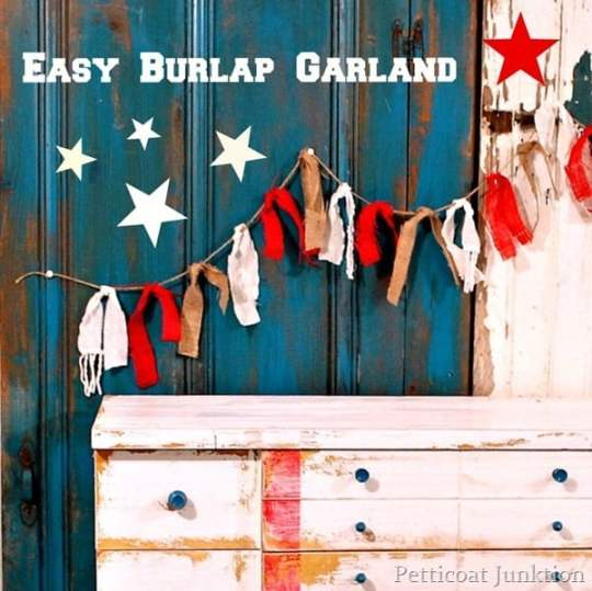 red-burlap-garland-stars