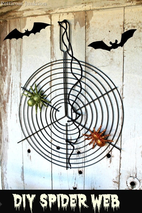 spider web diy upcycle