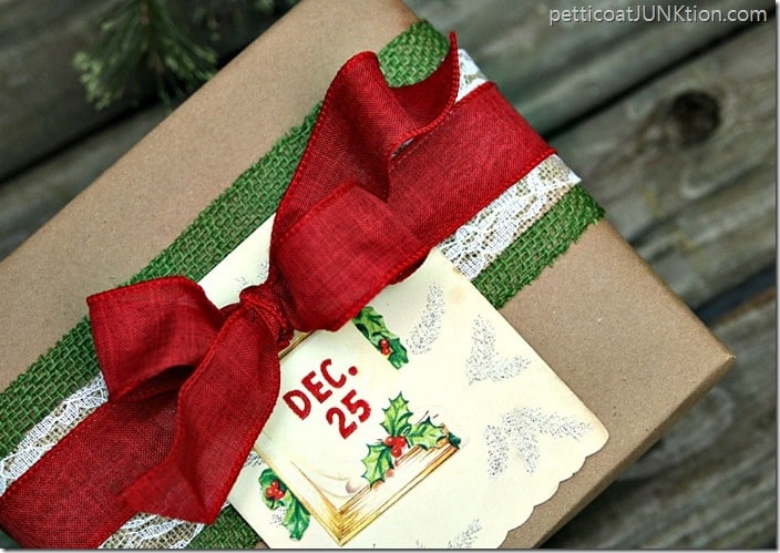 Vintage Inspired Christmas Gift Wrap Ideas Petticoat