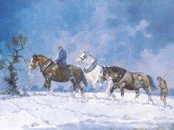 christmas-card-horses