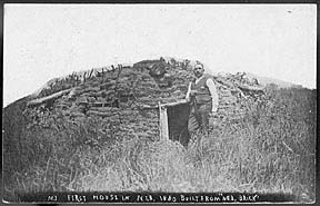 Butcher his own sod house