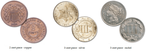 2 and 3 cents