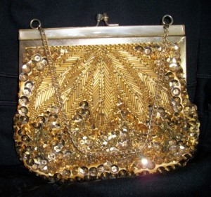 Linda's Gold Sequined Purse