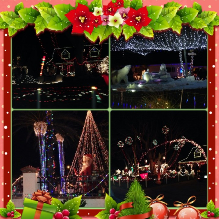Streets and streets of illuminating decorations at Candy Cane Lane!