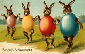 EASTER vintage egg bunnies