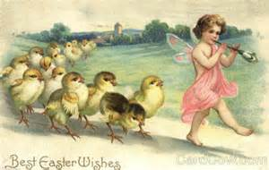 Easter vintage fairy pied piper