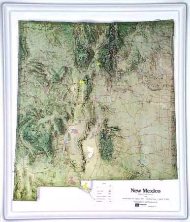 New Mex Topography Map