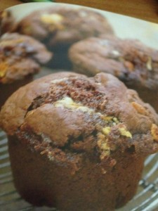 rocky road chocolate muffin
