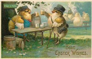 EASTER chicks drinking 2