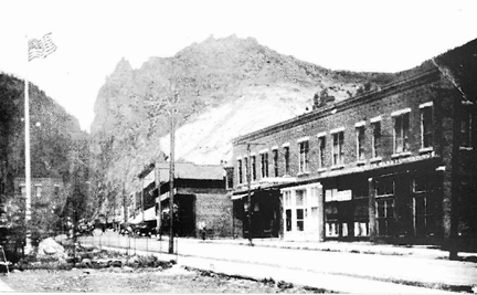 Main Street in Creede, Colorado, 1892