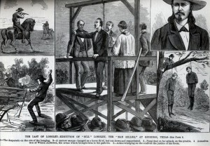 Illustration of Longley's hanging from National Police Gazette, Oct. 26, 1878