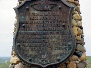 Plaque at the site of the battle (courtesy Phil Konstantin)