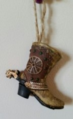 Christmas boot ornament
