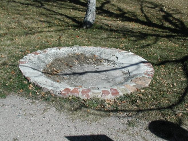 Old Fort Laramie birdbath