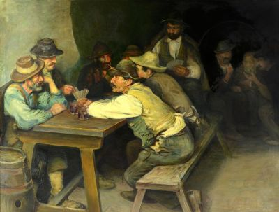 Gamblers, c. 1900. Artist unknown.