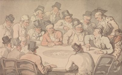 """The Gaming Table,"" Thomas Rowlandson, 1801"