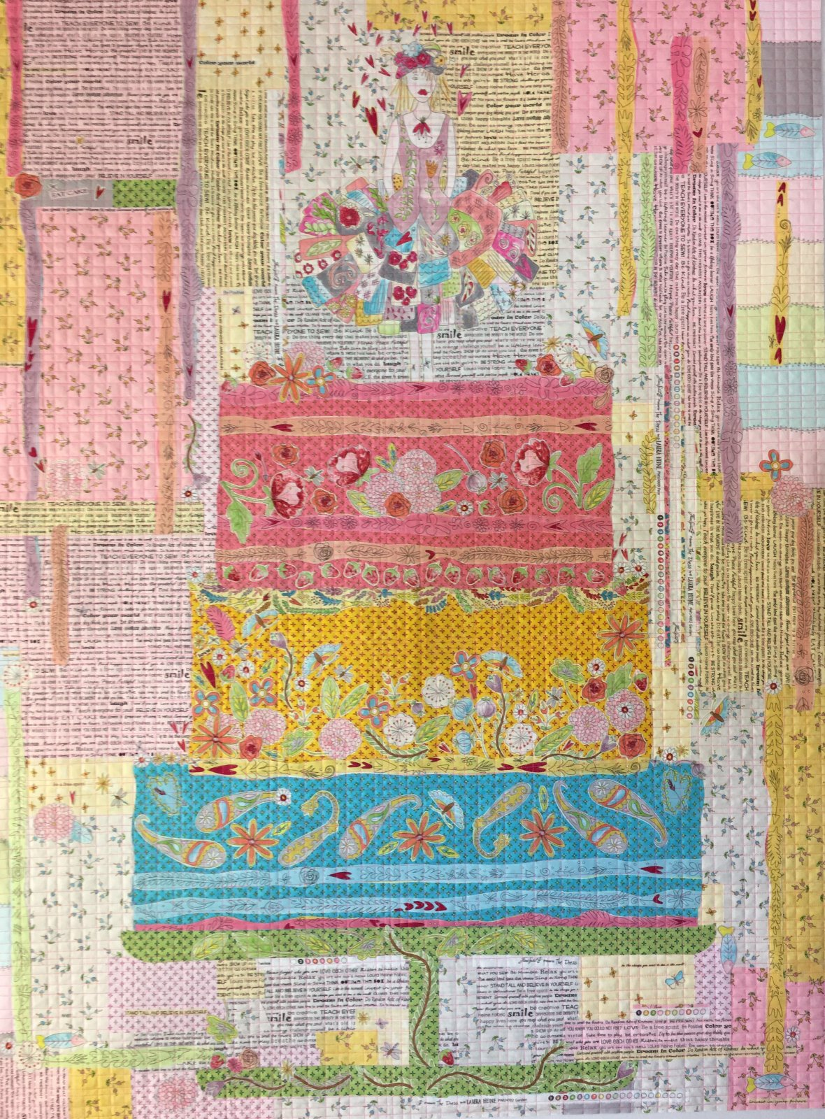 Laura Heine Eat Cake Collage Quilt Pattern