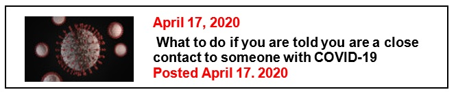 4-17-20 What to do if you are told you are a close contact to someone with COVID-19 Eng