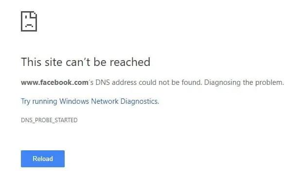 Cara mengatasi this site can't be reached di Google Chrome