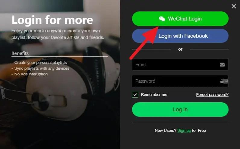 Cara Login ke Joox Versi PC Melalui Akun WeChat - login joox pc wechat 2