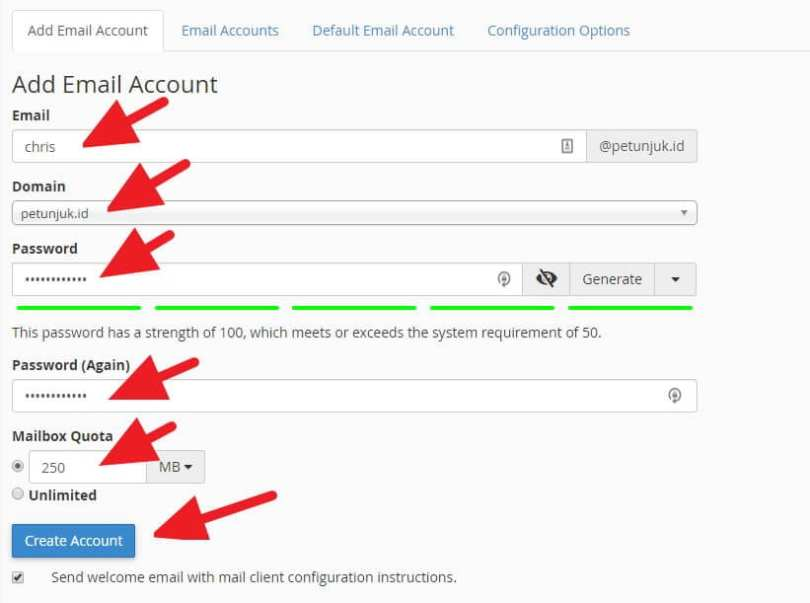 Cara Membuat Email Sendiri Melalui cPanel (Panduan Pemula) - membuat email cpanel 3
