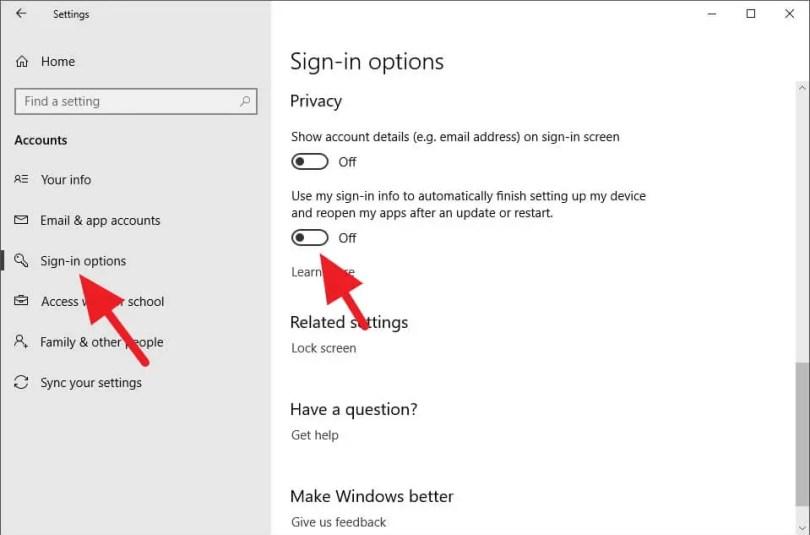 Mencegah Windows 10 Membuka Kembali Aplikasi Terakhir saat Startup