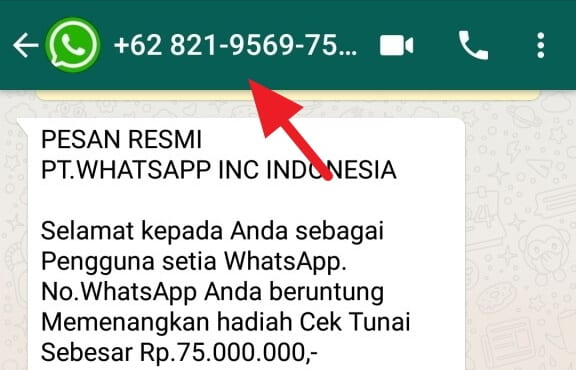 Penipuan PT WhatsApp Inc, menang undian whatsapp, pt whatsapp indonesia