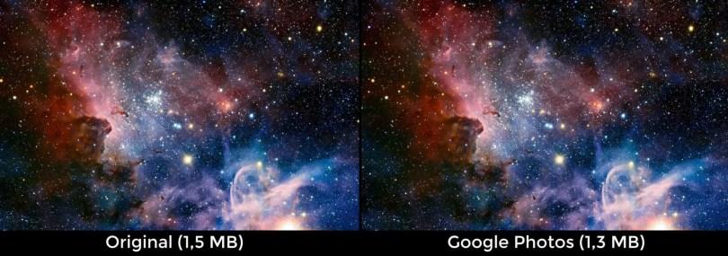 Perbandingan Kualitas Gambar Google Photos