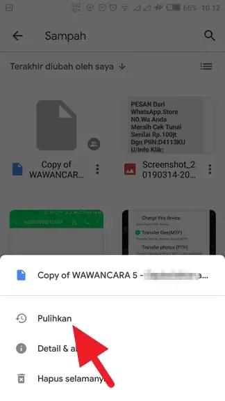 Cara Mengembalikan File yang Terhapus di Google Drive (7 LANGKAH) - Mengembalikan File Google Drive Terhapus 5