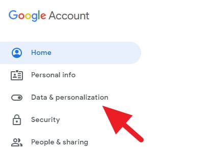 Data & personalization Google