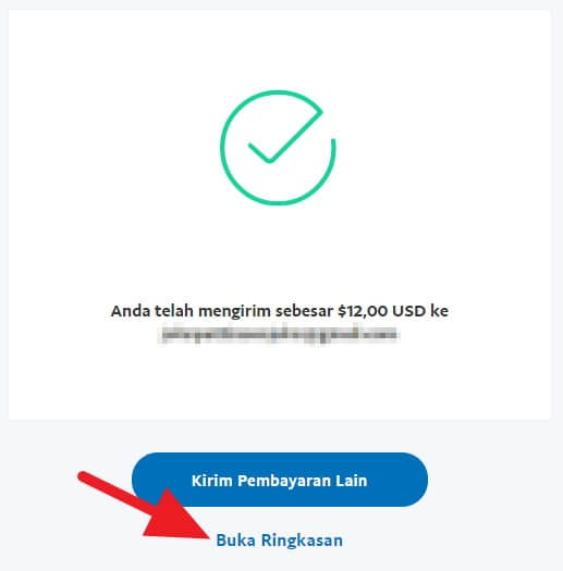 Transaksi Paypal selesai