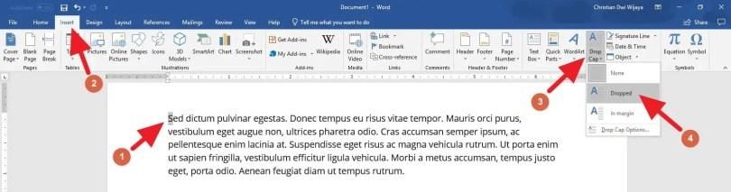 2 Cara Membuat Drop Cap di PowerPoint (SEMUA VERSI) - Drop Cap PowerPoint 2