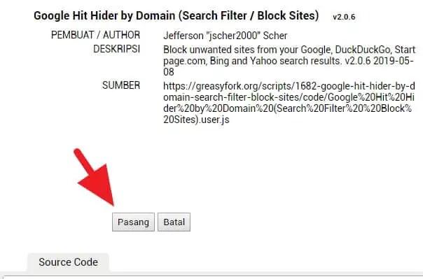 3 Cara Blokir Situs Tertentu dari Hasil Pencarian Google 11