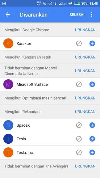 """3 Cara Mengubah Topik """"Artikel untuk Anda"""" di Chrome Android 6"""