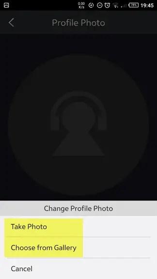 Cara Ganti Foto Profil Joox Sesuai Keinginan 5