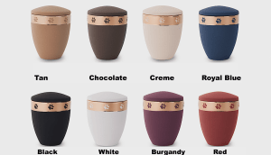 Gold Painted Paw Print Band Urns