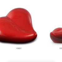 Red Ceramic Heart Urns
