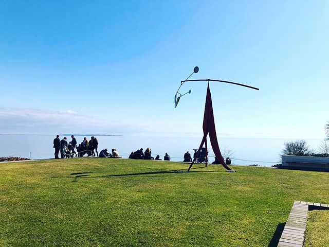 Three degrees in the sun despite the cloudless skies = spring in Denmark. Louisiana's gardens were ❤️ anyway. With the added bonus of a beautiful view to Sweden right across the water. #Denmark #Sweden #nomadstories #traveldiary #louisianamuseum #modernart #spring